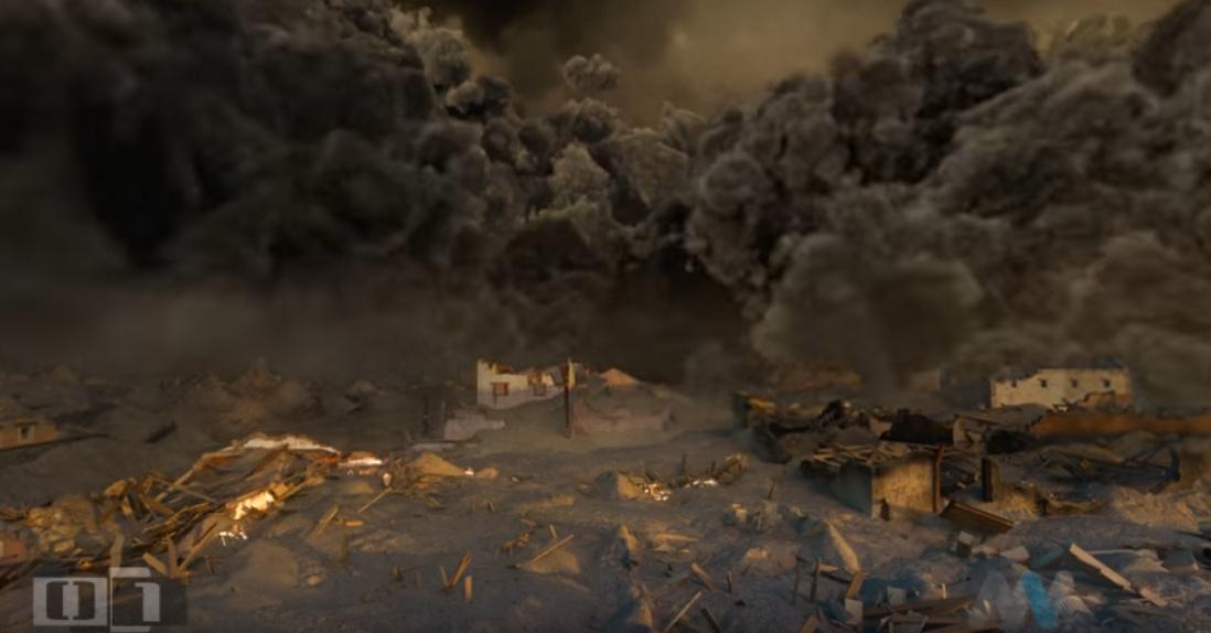 Pyroklastické proudy v Pompejích