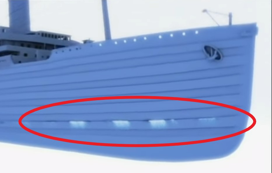 Ledovec způsobil Titanicu jen drobné trhliny