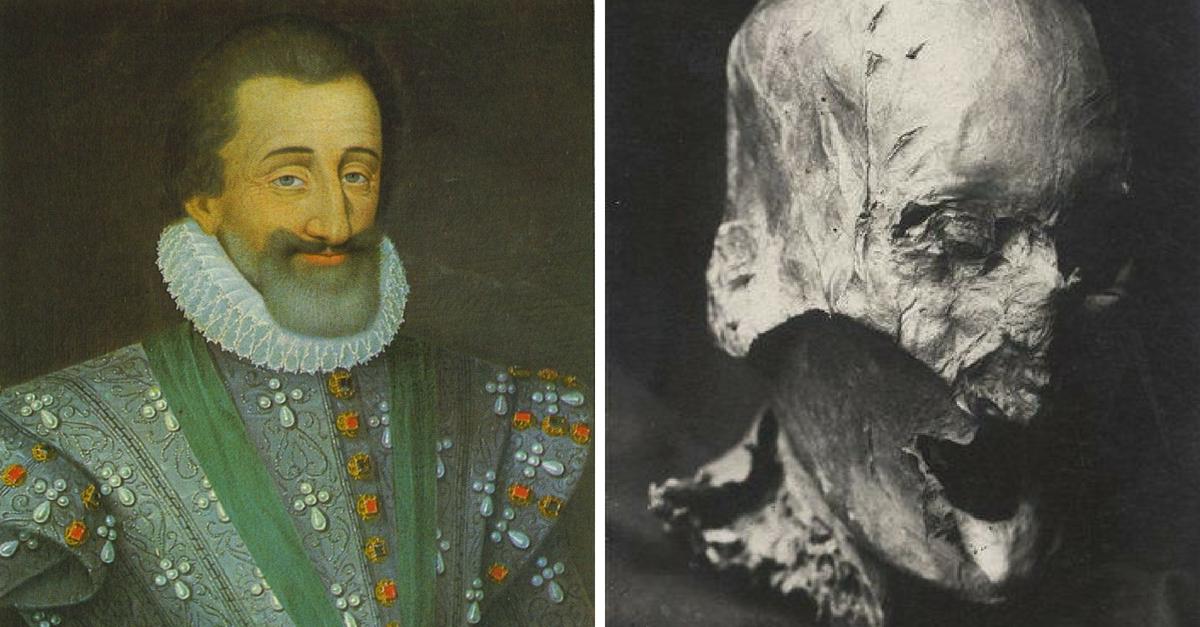 Hlava krále Jindřicha IV.