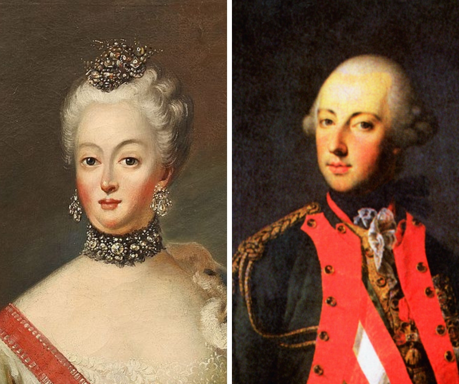 Marie Josefa Bavorská a Josef II.