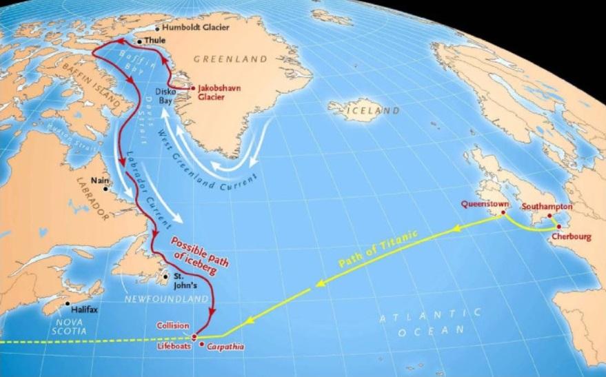 trasa ledovce Titanic