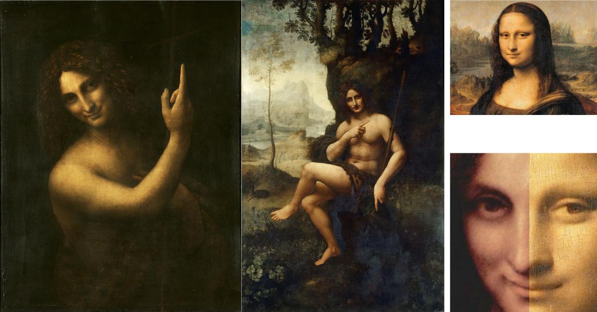 Salai posloužil jako model pro obrazy Svatý Jan Křtitel (vlevo) a Bakchus (vpravo). Zrovna tady je krásně vidět, jaký měl Leonardo da Vinci vkus: líbily se mu androgynní typy, a tak mužům přidával zženštilé rysy a ženám je naopak ubíral, což je zas patrno u Mony Lisy. Mimochodem v případě Mony Lisy se objevila teorie, že i pro tento obraz stál modelem Salai. Mona Lisa je mu totiž nápadně podobná. Spekulace ale nebyly potvrzeny, protože není na základě čeho je potvrdit. Také je možné, že modelem stáli oba.