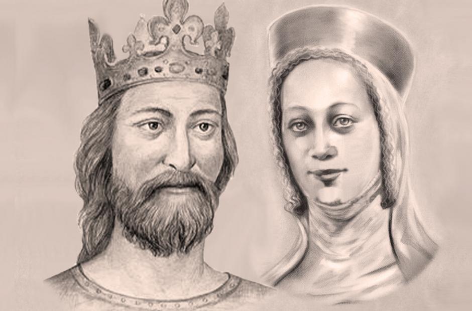 Jan Lucemburský a Eliška Přemyslovna