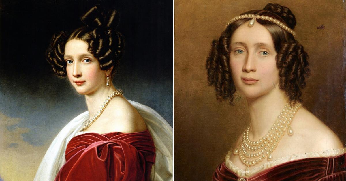 arcivévodkyně Žofie Bavorská a její sestra-dvojče